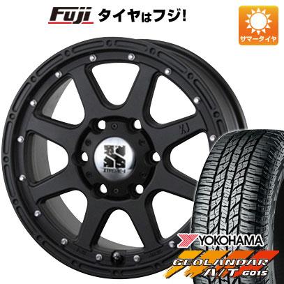 タイヤはフジ 送料無料 MLJ エクストリームJ 7J 7.00-16 YOKOHAMA ジオランダー A/T G015 RBL 225/70R16 16インチ サマータイヤ ホイール4本セット