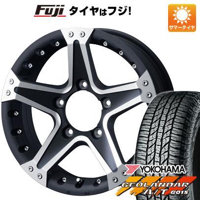 タイヤはフジ 送料無料 ジムニー WEDS ウェッズ マッドヴァンス 01 5.5J 5.50-16 YOKOHAMA ジオランダー A/T G015 RBL 185/85R16 16インチ サマータイヤ ホイール4本セット