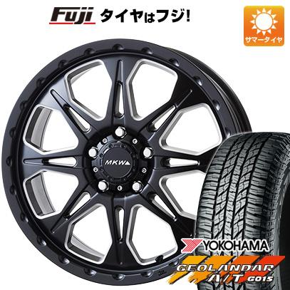 タイヤはフジ 送料無料 CX-5 MKW MK-66 7J 7.00-16 YOKOHAMA ジオランダー A/T G015 OWL/RBL 235/70R16 16インチ サマータイヤ ホイール4本セット