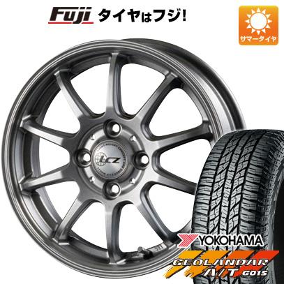 タイヤはフジ 送料無料 INTER MILANO インターミラノ LCZ 010 4.5J 4.50-15 YOKOHAMA ジオランダー A/T G015 RBL(限定) 165/60R15 15インチ サマータイヤ ホイール4本セット
