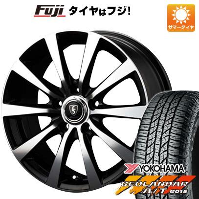 7/25はエントリーでポイント15倍 タイヤはフジ 送料無料 MID ユーロスピード BL-10 6.5J 6.50-16 YOKOHAMA ジオランダー A/T G015 RBL 215/70R16 16インチ サマータイヤ ホイール4本セット