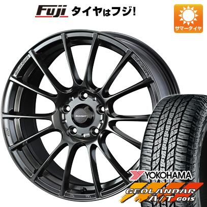 タイヤはフジ 送料無料 WEDS ウェッズスポーツ SA-72R 7.5J 7.50-18 YOKOHAMA ジオランダー A/T G015 RBL 225/55R18 18インチ サマータイヤ ホイール4本セット