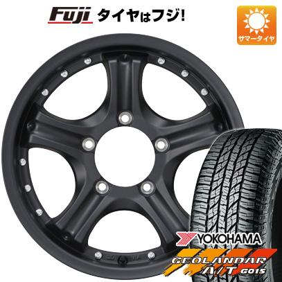 タイヤはフジ 送料無料 ジムニー カジュアルセット タイプE10 マットブラック 5.5J 5.50-16 YOKOHAMA ジオランダー A/T G015 RBL 185/85R16 16インチ サマータイヤ ホイール4本セット