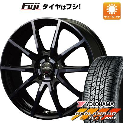 タイヤはフジ 送料無料 MID シュナイダー DR-01 6.5J 6.50-16 YOKOHAMA ジオランダー A/T G015 RBL 215/70R16 16インチ サマータイヤ ホイール4本セット