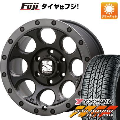 タイヤはフジ 送料無料 MLJ エクストリームJ XJ03 8J 8.00-16 YOKOHAMA ジオランダー A/T G015 OWL/RBL 235/70R16 16インチ サマータイヤ ホイール4本セット