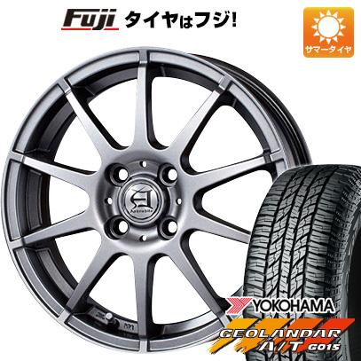 タイヤはフジ 送料無料 TECHNOPIA テクノピア アフロディーテ HS 4.5J 4.50-15 YOKOHAMA ジオランダー A/T G015 RBL(限定) 165/60R15 15インチ サマータイヤ ホイール4本セット