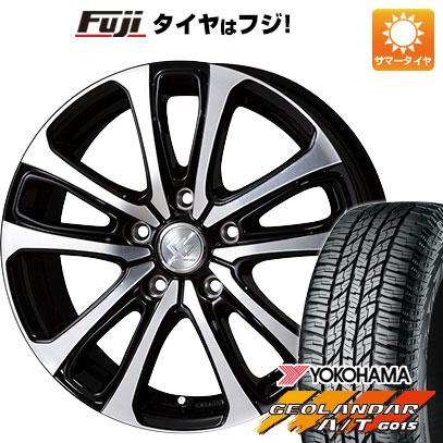 タイヤはフジ 送料無料 TOPY トピー セレブロ LF5 6.5J 6.50-16 YOKOHAMA ジオランダー A/T G015 RBL 215/70R16 16インチ サマータイヤ ホイール4本セット
