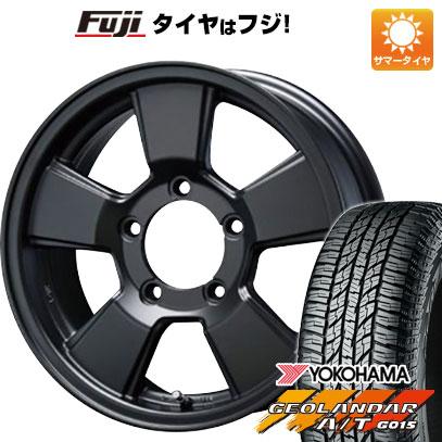 タイヤはフジ 送料無料 ジムニー BLEST ブレスト バーンズテック JHストリーム 5.5J 5.50-16 YOKOHAMA ジオランダー A/T G015 OWL/RBL 215/85R16 16インチ サマータイヤ ホイール4本セット