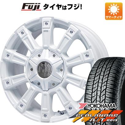 タイヤはフジ 送料無料 LEHRMEISTER レアマイスター モウスト(ホワイト) 7J 7.00-16 YOKOHAMA ジオランダー A/T G015 OWL/RBL 235/70R16 16インチ サマータイヤ ホイール4本セット