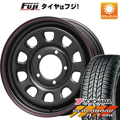 タイヤはフジ 送料無料 ジムニーシエラ MLJ デイトナSS 6J 6.00-15 YOKOHAMA ジオランダー A/T G015 RBL 195/80R15 15インチ サマータイヤ ホイール4本セット