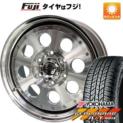 タイヤはフジ 送料無料 SOLID RACING ソリッドレーシング Iメタル X プレミアム 8J 8.00-17 YOKOHAMA ジオランダー A/T G015 RBL 265/65R17 17インチ サマータイヤ ホイール4本セット