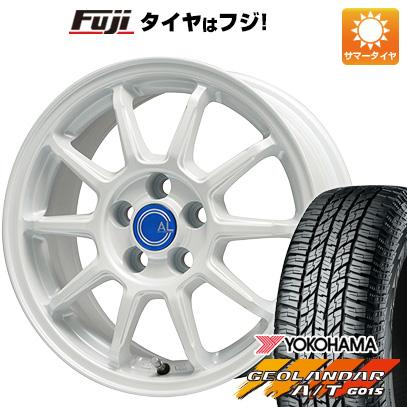 タイヤはフジ 送料無料 BRANDLE-LINE ブランドルライン カルッシャー ホワイト 6.5J 6.50-16 YOKOHAMA ジオランダー A/T G015 RBL 215/70R16 16インチ サマータイヤ ホイール4本セット