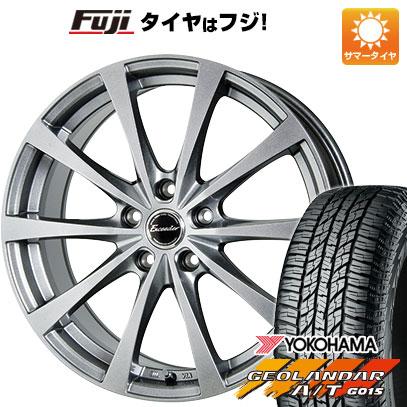 タイヤはフジ 送料無料 HOT STUFF ホットスタッフ エクシーダー E03 6.5J 6.50-16 YOKOHAMA ジオランダー A/T G015 RBL 215/70R16 16インチ サマータイヤ ホイール4本セット