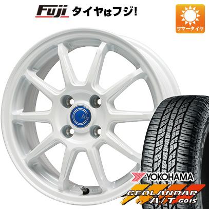 タイヤはフジ 送料無料 BRANDLE-LINE ブランドルライン カルッシャー ホワイト 4.5J 4.50-15 YOKOHAMA ジオランダー A/T G015 RBL(限定) 165/60R15 15インチ サマータイヤ ホイール4本セット