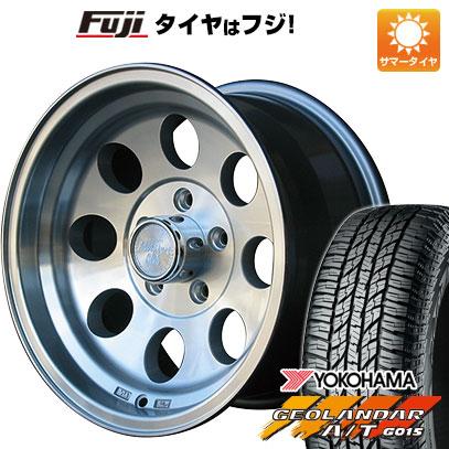 タイヤはフジ 送料無料 CAN ジムライン タイプ2 デリカD5専用 7J 7.00-16 YOKOHAMA ジオランダー A/T G015 RBL 225/70R16 16インチ サマータイヤ ホイール4本セット