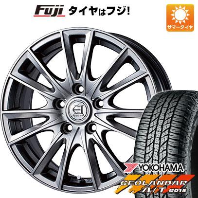 タイヤはフジ 送料無料 TECHNOPIA テクノピア アフロディーテ EF 6.5J 6.50-16 YOKOHAMA ジオランダー A/T G015 RBL 215/70R16 16インチ サマータイヤ ホイール4本セット