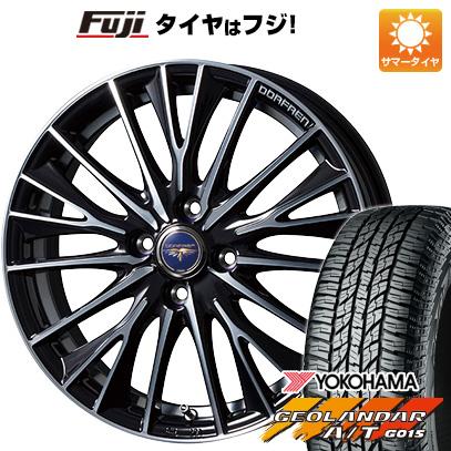 タイヤはフジ 送料無料 TOPY トピー ドルフレン デルディオ 4.5J 4.50-15 YOKOHAMA ジオランダー A/T G015 RBL(限定) 165/60R15 15インチ サマータイヤ ホイール4本セット