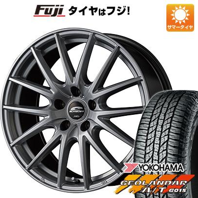 タイヤはフジ 送料無料 MID シュナイダー SQ27 6.5J 6.50-16 YOKOHAMA ジオランダー A/T G015 RBL 215/70R16 16インチ サマータイヤ ホイール4本セット