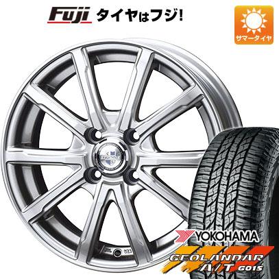 タイヤはフジ 送料無料 BIGWAY ビッグウエイ EXPLODE DM-10 4.5J 4.50-15 YOKOHAMA ジオランダー A/T G015 RBL(限定) 165/60R15 15インチ サマータイヤ ホイール4本セット