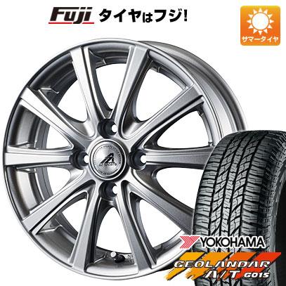 タイヤはフジ 送料無料 INTER MILANO インターミラノ AZ-SPORTS YL-10 4.5J 4.50-15 YOKOHAMA ジオランダー A/T G015 RBL(限定) 165/60R15 15インチ サマータイヤ ホイール4本セット