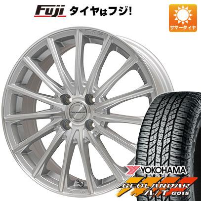 タイヤはフジ 送料無料 LEHRMEISTER LM-S FS15 (シルバーポリッシュ) 4.5J 4.50-15 YOKOHAMA ジオランダー A/T G015 RBL(限定) 165/60R15 15インチ サマータイヤ ホイール4本セット