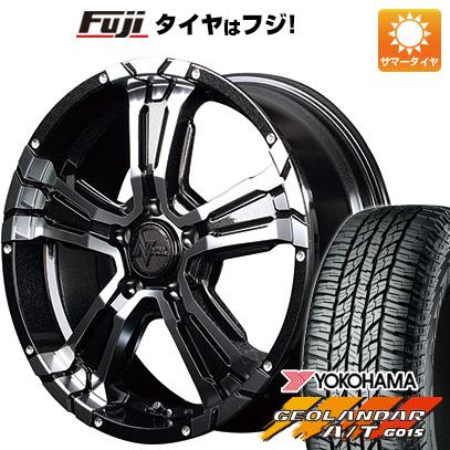 タイヤはフジ 送料無料 MID NITRO POWER ナイトロパワー クロスクロウ 7J 7.00-16 YOKOHAMA ジオランダー A/T G015 RBL 215/70R16 16インチ サマータイヤ ホイール4本セット