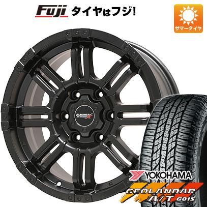 タイヤはフジ 送料無料 BIGWAY ビッグウエイ B-MUD X(マットブラック) 7.5J 7.50-17 YOKOHAMA ジオランダー A/T G015 RBL 265/65R17 17インチ サマータイヤ ホイール4本セット