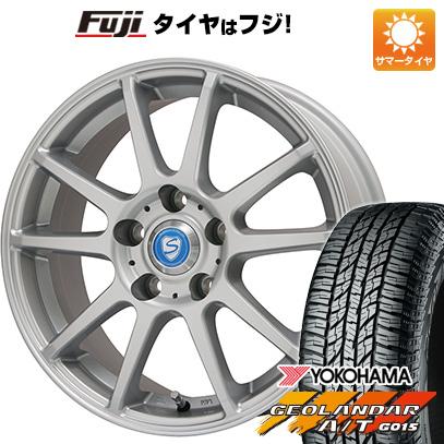 タイヤはフジ 送料無料 BRANDLE ブランドル 302 6.5J 6.50-16 YOKOHAMA ジオランダー A/T G015 RBL 215/70R16 16インチ サマータイヤ ホイール4本セット