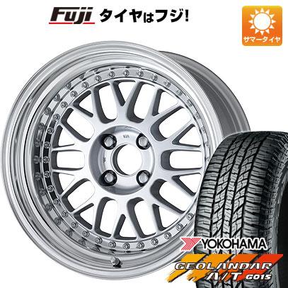 タイヤはフジ 送料無料 WORK ワーク マイスター M1 3P 7J 7.00-16 YOKOHAMA ジオランダー A/T G015 RBL 215/70R16 16インチ サマータイヤ ホイール4本セット