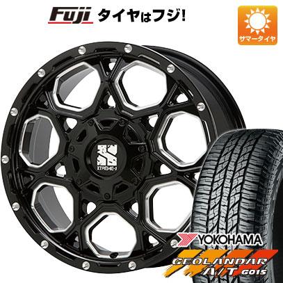 タイヤはフジ 送料無料 MLJ エクストリームJ XJ06 7J 7.00-16 YOKOHAMA ジオランダー A/T G015 OWL/RBL 235/70R16 16インチ サマータイヤ ホイール4本セット