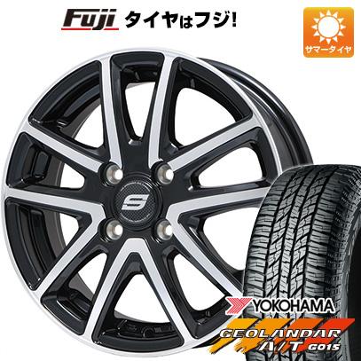 タイヤはフジ 送料無料 BRANDLE ブランドル M61BP 4.5J 4.50-15 YOKOHAMA ジオランダー A/T G015 RBL(限定) 165/60R15 15インチ サマータイヤ ホイール4本セット