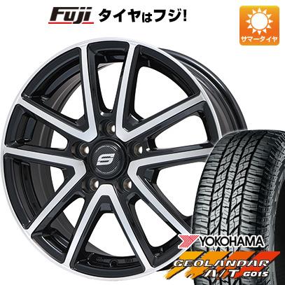 タイヤはフジ 送料無料 BRANDLE ブランドル M61BP 7J 7.00-17 YOKOHAMA ジオランダー A/T G015 RBL 225/65R17 17インチ サマータイヤ ホイール4本セット