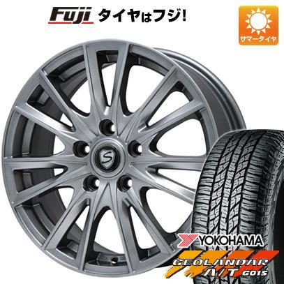 タイヤはフジ 送料無料 BRANDLE ブランドル 485 6.5J 6.50-16 YOKOHAMA ジオランダー A/T G015 RBL 215/70R16 16インチ サマータイヤ ホイール4本セット