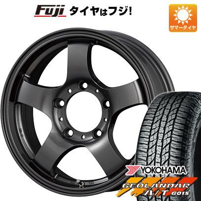 タイヤはフジ 送料無料 ジムニー KOSEI コーセイ JBランダー 5.5J 5.50-16 YOKOHAMA ジオランダー A/T G015 RBL 185/85R16 16インチ サマータイヤ ホイール4本セット