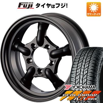 タイヤはフジ 送料無料 ジムニー MOTOR FARM J-トラッド 5.5J 5.50-16 YOKOHAMA ジオランダー A/T G015 RBL 175/80R16 16インチ サマータイヤ ホイール4本セット