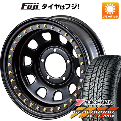 タイヤはフジ 送料無料 ジムニー MOTOR FARM リアルビードロック ロックマスターRB 6J 6.00-16 YOKOHAMA ジオランダー A/T G015 RBL 185/85R16 16インチ サマータイヤ ホイール4本セット