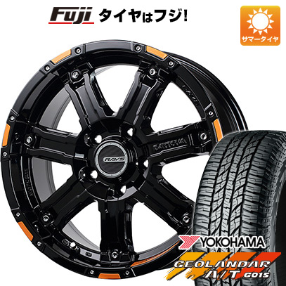 タイヤはフジ 送料無料 RAYS レイズ デイトナ FDX-D コレクション 7J 7.00-16 YOKOHAMA ジオランダー A/T G015 OWL/RBL 235/70R16 16インチ サマータイヤ ホイール4本セット