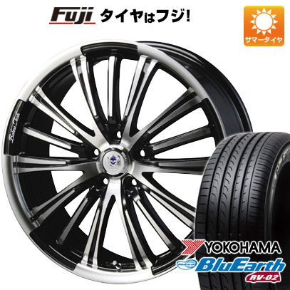 タイヤはフジ 送料無料 BLEST ブレスト バーンズテック VR-01 7.5J 7.50-19 YOKOHAMA ブルーアース RV-02 225/45R19 19インチ サマータイヤ ホイール4本セット