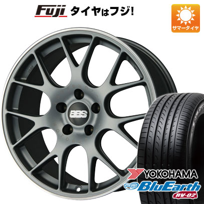タイヤはフジ 送料無料 BBS GERMANY BBS CH-R 8.5J 8.50-20 YOKOHAMA ブルーアース RV-02 245/35R20 20インチ サマータイヤ ホイール4本セット