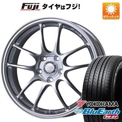 タイヤはフジ 送料無料 ENKEI エンケイ PF01 7.5J 7.50-18 YOKOHAMA ブルーアース RV-02 225/55R18 18インチ サマータイヤ ホイール4本セット
