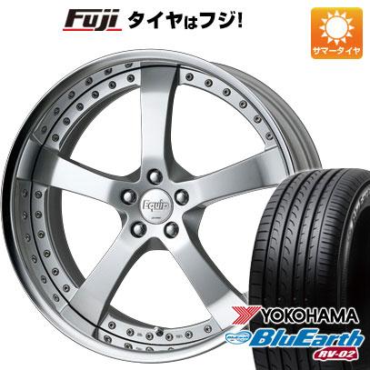 タイヤはフジ 送料無料 WORK ワーク エクイップ E05 8J 8.00-19 YOKOHAMA ブルーアース RV-02 245/45R19 19インチ サマータイヤ ホイール4本セット