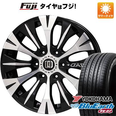 タイヤはフジ 送料無料 NV350キャラバン GARSON ギャルソン バルディッシュ 7.5J 7.50-18 YOKOHAMA ブルーアース RV-02 215/55R18 18インチ サマータイヤ ホイール4本セット