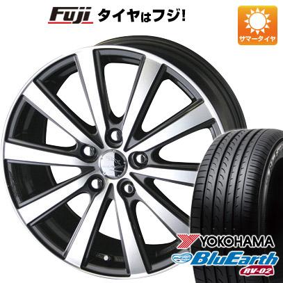タイヤはフジ 送料無料 KYOHO 共豊 スマック VI-R 6J 6.00-15 YOKOHAMA ブルーアース RV-02 195/65R15 15インチ サマータイヤ ホイール4本セット