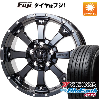 タイヤはフジ 送料無料 MKW MK-46 7.5J 7.50-17 YOKOHAMA ブルーアース RV-02 225/60R17 17インチ サマータイヤ ホイール4本セット