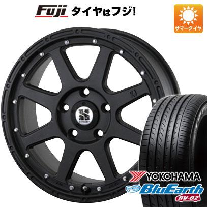 タイヤはフジ 送料無料 MLJ エクストリームJ 8J 8.00-18 YOKOHAMA ブルーアース RV-02 225/55R18 18インチ サマータイヤ ホイール4本セット