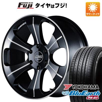 タイヤはフジ 送料無料 ハイエース200系 M-TECHNO エムテクノ M.T.S. MJ18-03S 8J 8.00-18 YOKOHAMA ブルーアース RV-02 225/50R18 18インチ サマータイヤ ホイール4本セット