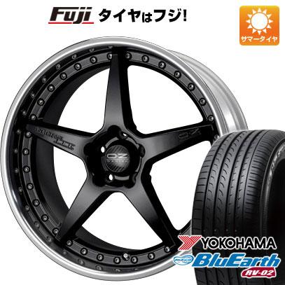 タイヤはフジ 送料無料 OZ クロノ3 8.5J 8.50-19 YOKOHAMA ブルーアース RV-02 245/45R19 19インチ サマータイヤ ホイール4本セット
