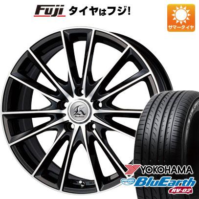 タイヤはフジ 送料無料 TECHNOPIA テクノピア カシーナ FV-7 8J 8.00-19 YOKOHAMA ブルーアース RV-02 245/45R19 19インチ サマータイヤ ホイール4本セット