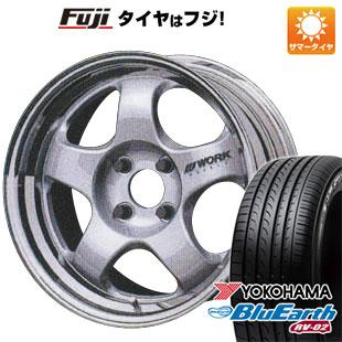 タイヤはフジ 送料無料 WORK ワーク マイスター S1 2P 6.5J 6.50-15 YOKOHAMA ブルーアース RV-02 195/65R15 15インチ サマータイヤ ホイール4本セット