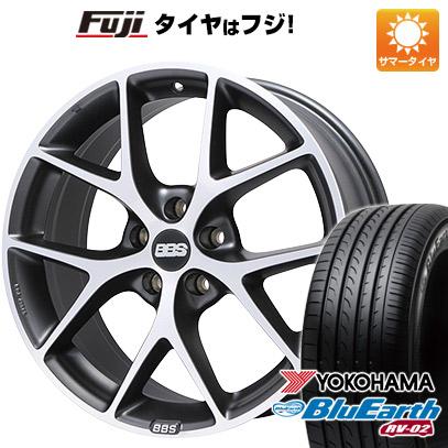 タイヤはフジ 送料無料 BBS GERMANY BBS SR 7.5J 7.50-17 YOKOHAMA ブルーアース RV-02 225/60R17 17インチ サマータイヤ ホイール4本セット